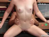 LP Officer starts romping Kat Monroes tight pussy