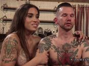 Tattooed slave anal bangs tranny
