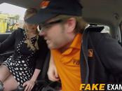 Big booty bitch Georgie Lyall rides Ryan Ryder in the car
