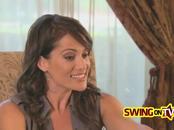 Busty latina swinger enjoys a gentle fingering