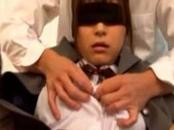 Asian teen blindfolded and toyed
