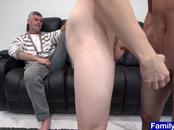 Teen makes out with boy next door while stepdad watches