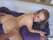 Sexy oiled PAWG pounded right