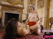 A high society and a punk lesbian slut having some fun