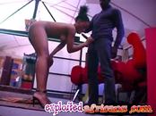 Horny African girl with a big ass sucks her man's huge black cock