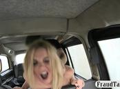 Busty amateur banged by nasty driver at the backseat