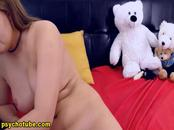 Long Haired Brunette Reveals Nude Body Live