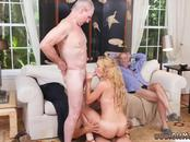 Blonde step mom huge tits Frannkie And The Gang Tag Team A Door To