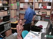 Emma gets down on her knees when she's blackmailed by officer