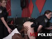 Cock hungry milf cops make steamy music with horny criminal