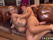 Bella Bellz sucking Keiran Lees big cock deep throat