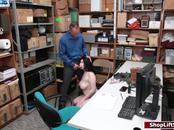 Busty thief gets her pussy eaten and fucked by officer