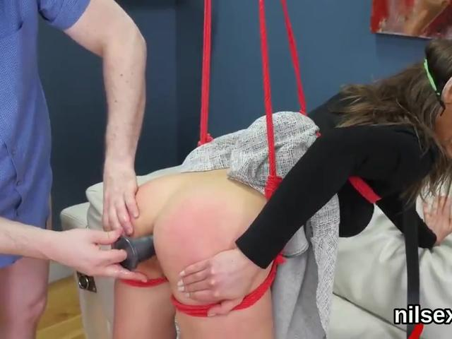 Slutty girl is brought in anal asylum for painful therapy