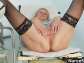 Aged Granny Does Self-Test Using Spreader Tool